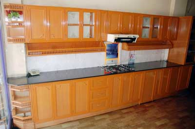 Vivaro Aluminum Frame Kitchen Cabinet Doors With Frosted Glass