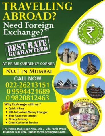 Forex money exchange in mumbai