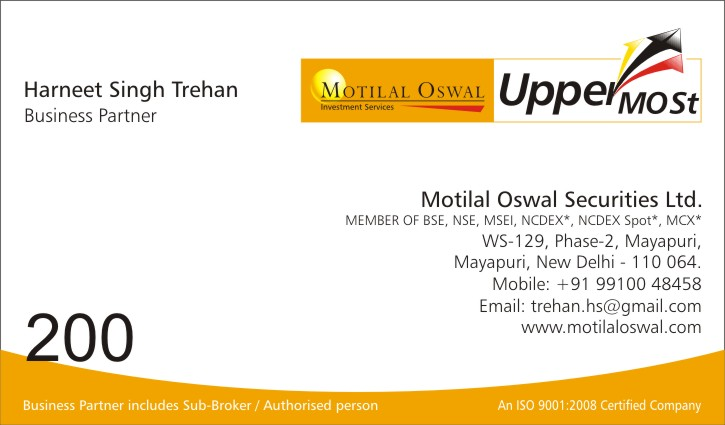 Motilal Oswal Securities In Mayapuri Industrial Area Phase