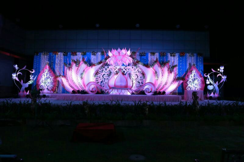 Manikanta flower decorations in ramanthapur hyderabad for Annual day stage decoration images